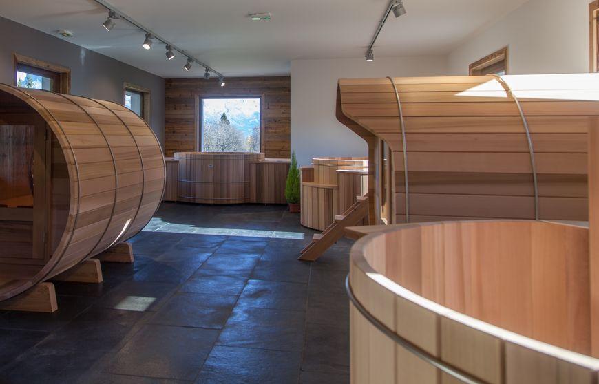 Storvatt showroom bois red cedar