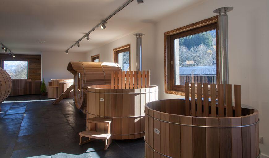 Storvatt Showroom Spa Sauna bois