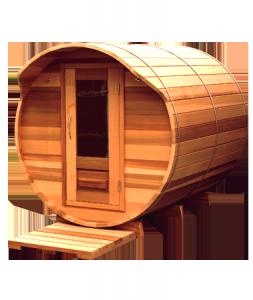 Sauna exterieur bois Storvatt casquette