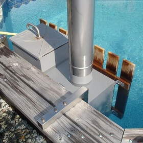Fourneau en aluminium qualité marine 40 kW