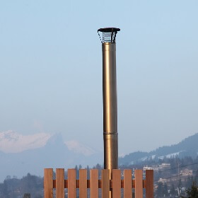 Stainless steel chimney and hoops