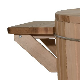 Solid wood footstool and shelf