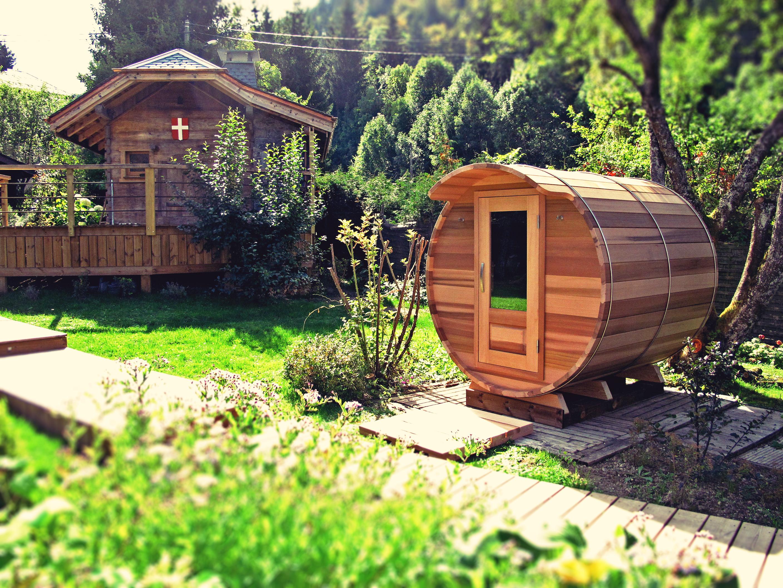sauna exterieur tonneau