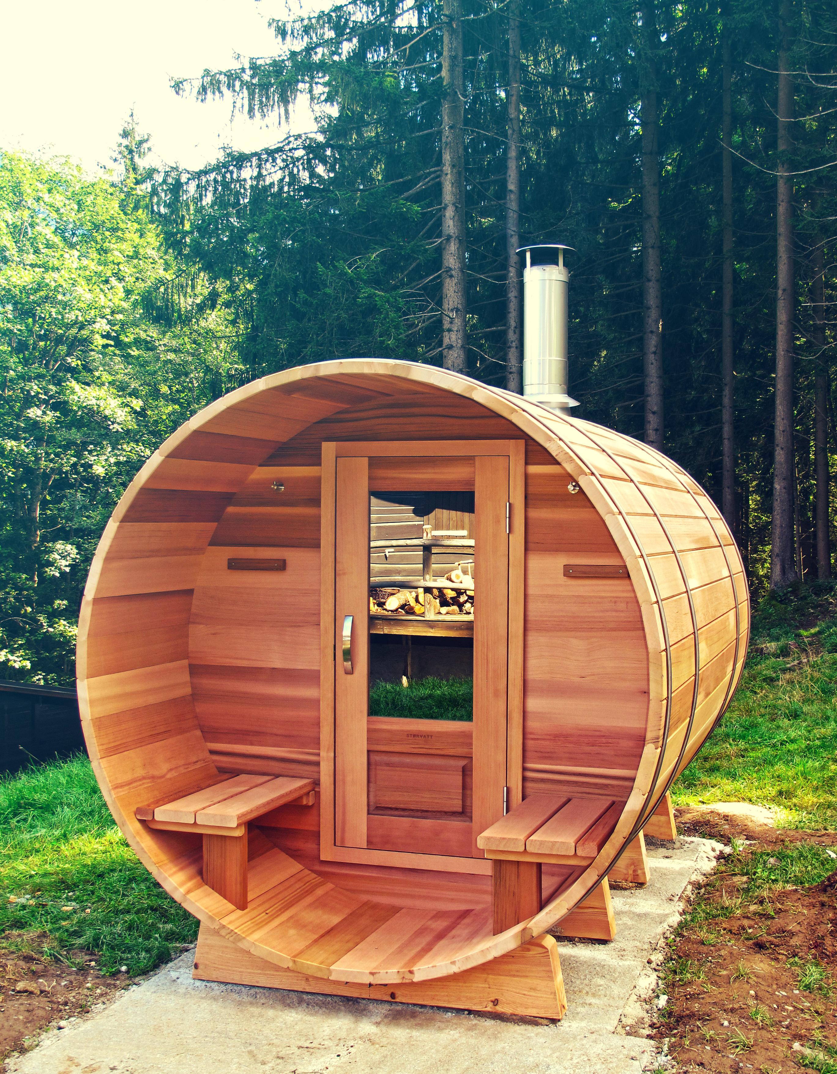Sauna Tonneau en bois